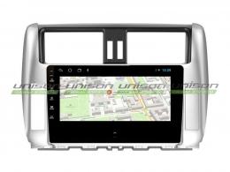 Штатная магнитола UNISON T1 для Toyota Land Cruiser Prado 150 на Android (серебро)