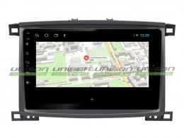 Штатная магнитола UNISON T1 для Toyota Land Cruiser 100 на Android (климат. серебро)