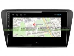 Штатная магнитола UNISON T1 для Skoda Octavia A7 на Android